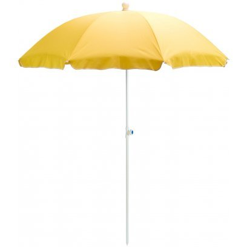 DEMA Plážový slnečník 180 cm UV30 Beach, žltý