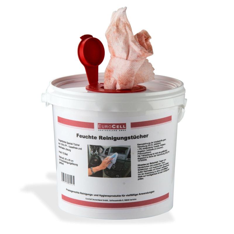 Vlhčené čistiace utierky vo vedierku, 72 ks