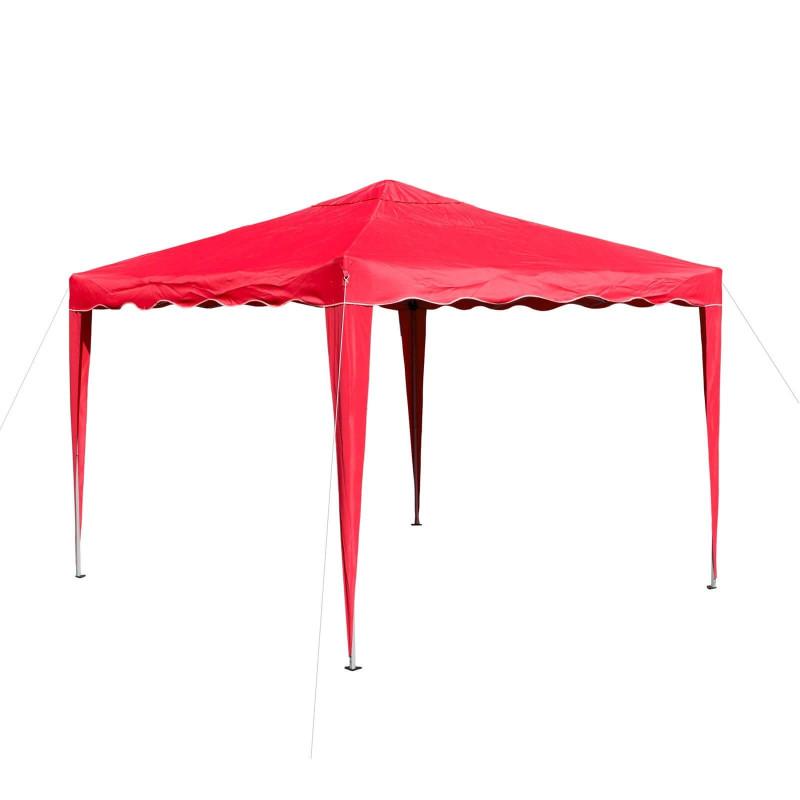 Pavilón hliníkový skladací 3x3 m, červený