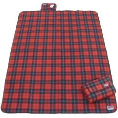 DEMA Plážová / pikniková deka 190x130 cm Acryl-Fleece, červená