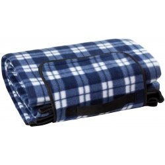 DEMA Plážová / pikniková deka 190x130 cm Acryl-Fleece, modrá