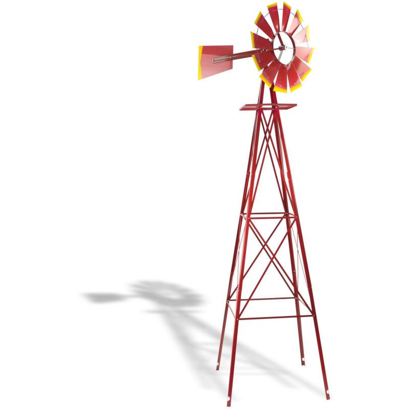 Mlyn veterný 550 mm, červený