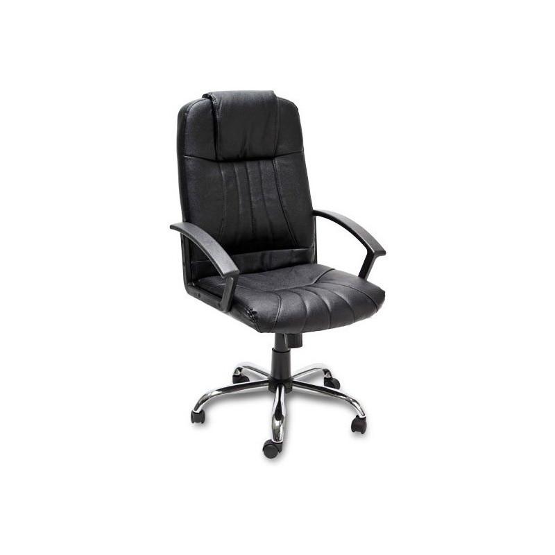 Stolička kancelárska - chróm, koža