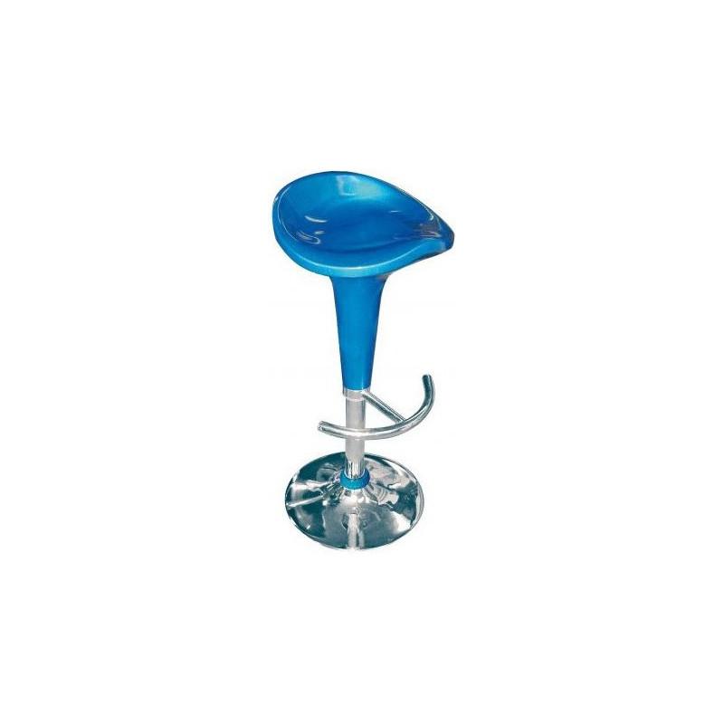 Stolička barová - modrá
