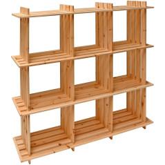 DEMA Drevený regál s 9 priečinkami 113x27x110 cm