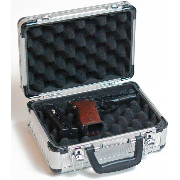6bc511ea20638 Hliníkový kufrík na pištoľ; Hliníkový kufrík na pištoľ ...