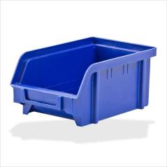 DEMA Plastový zásobník na súčiastky 103x166x73 mm, modrý