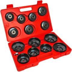 DEMA Kľúče na olejové filtre, 15-dielna sada