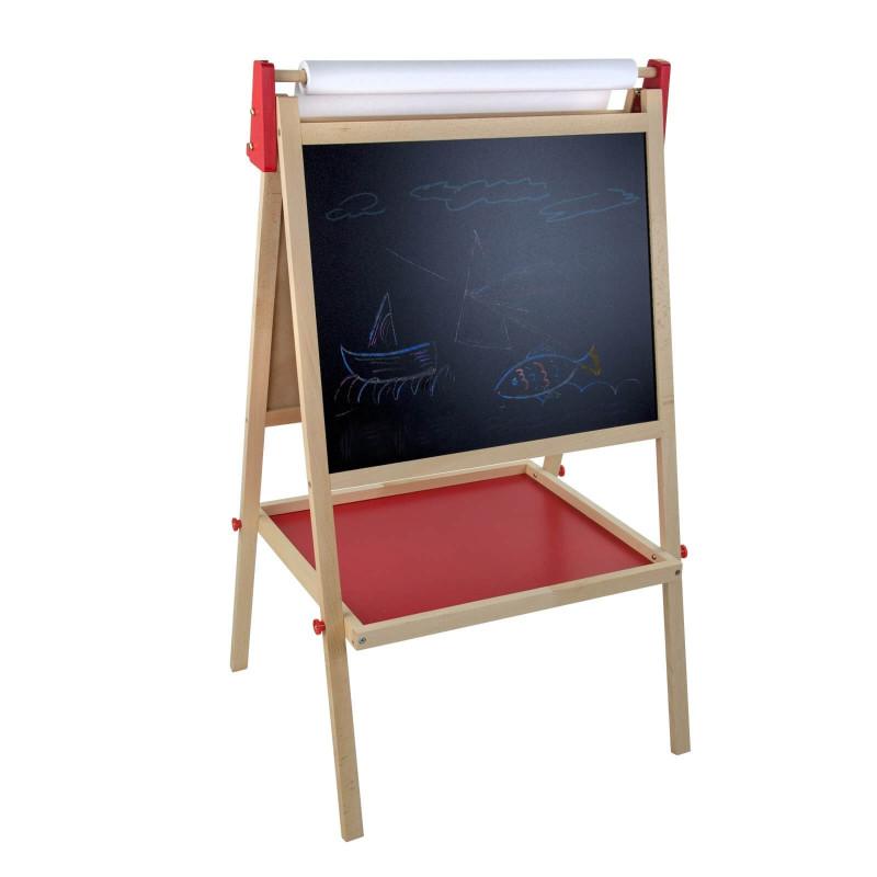 DEMA Detská drevená obojstranná tabuľa 56x48x98 cm