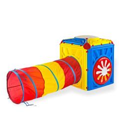 DEMA Detská aktivity kocka s tunelom
