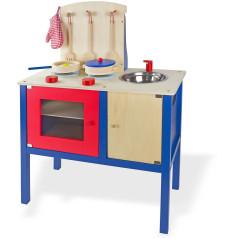 Detská drevená kuchyňa s príslušenstvom