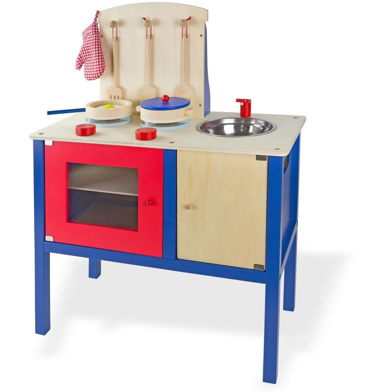 DEMA Detská drevená kuchyňa s príslušenstvom