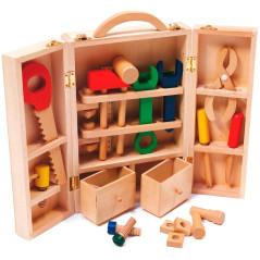 Detský drevený kufrík s náradím