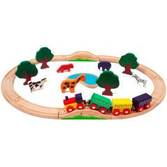 Detská drevená železnica