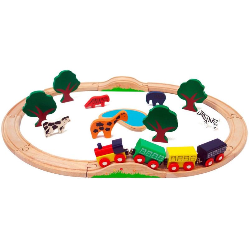 Sada vlaková - 24-dielna, drevená