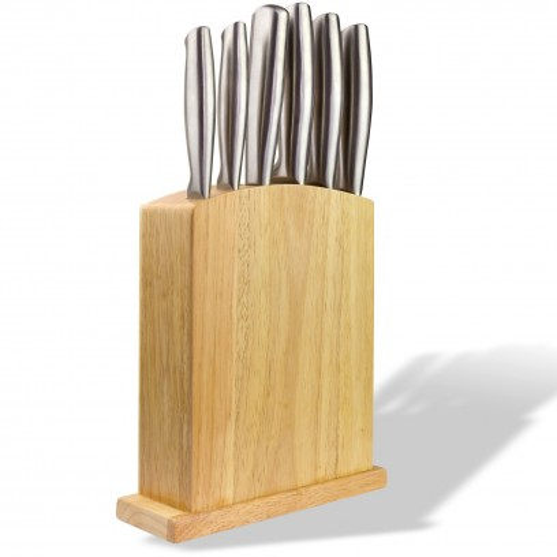 DEMA Sada nožov v drevenom stojane, 7-dielna