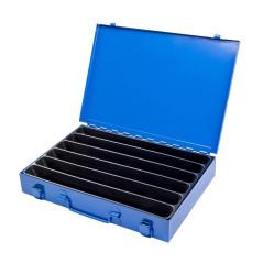 Sortimentový kufrík kovový, 6 priehradok