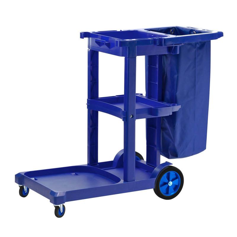 DEMA Profi pojazdný upratovací vozík s držiakom na odpadkové vrece 87 litrov