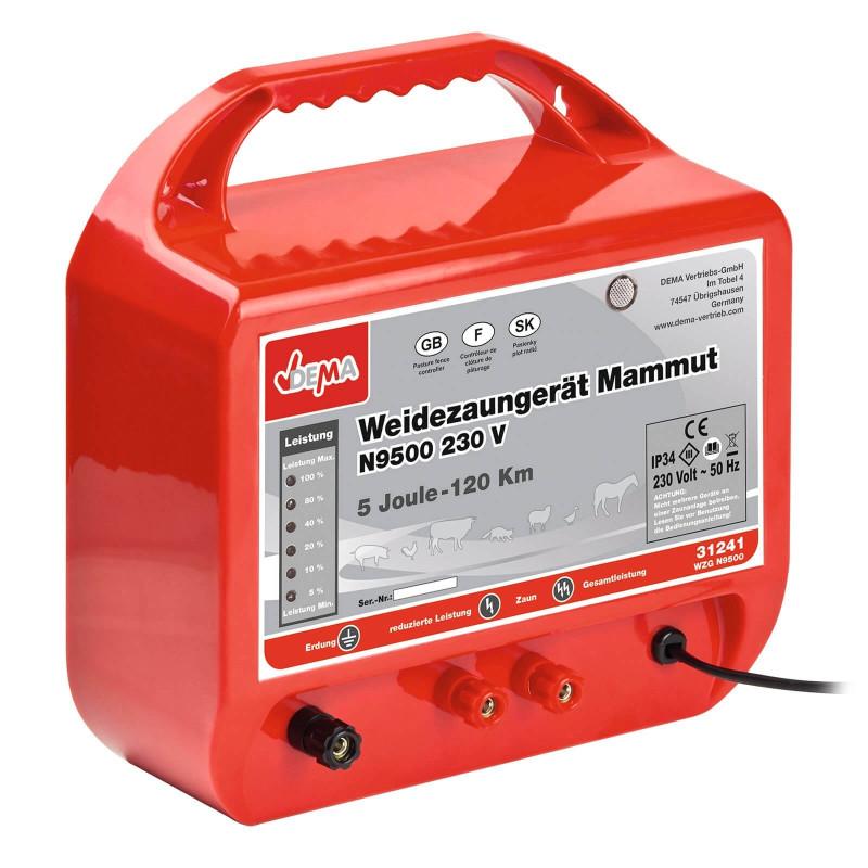DEMA Elektrický ohradník 230 V Mammut N9500 230V