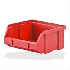 DEMA Plastový zásobník na súčiastky 100x95x50 mm, červený