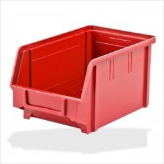DEMA Plastový zásobník na súčiastky 146x237x124 mm, červený