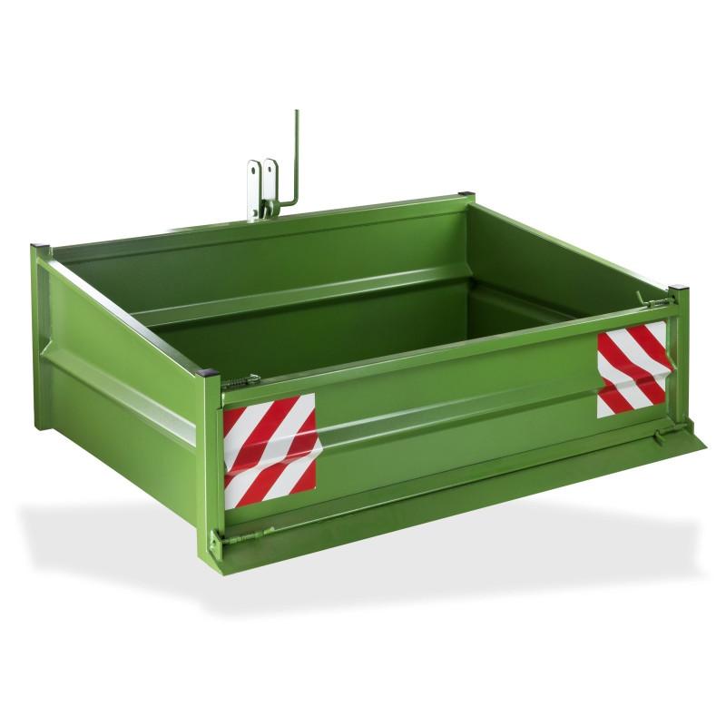 DEMA Vyklápací kontajner zadný na traktor kat. I a kat. II, zelený