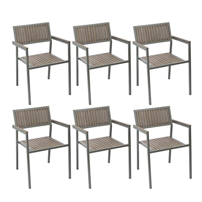 Stoličky záhradné Palermo, sada 6 ks