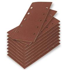 Brúsny papier pre vibračnú brúsku K80 DEMA 10 ks