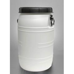 DEMA Plastový sud / barel / nádoba na kvas so širokým hrdlom a úchytmi 70 L, biely