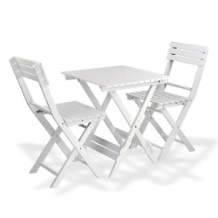 DEMA Záhradný nábytok Sanremo, biely