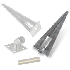 Pätka kotviaca natĺkacia s upínacou skrutkou pre stĺpik 34 mm