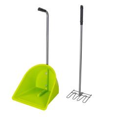 DEMA Lopatka a hrable na konský trus Iffezheim XL, zelená