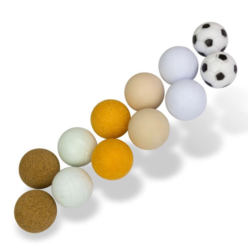 DEMA Loptičky pre stolný futbal, 12 ks