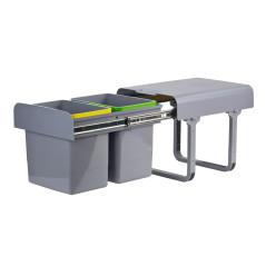 Odpadkový kôš na triedený odpad DEMA 2x15  L