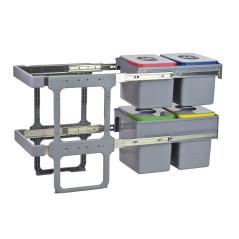 DEMA Odpadkový kôš na triedený odpad 2x15 L + 2x12 L
