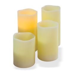 DEMA LED sviečky z pravého vosku, 4 ks