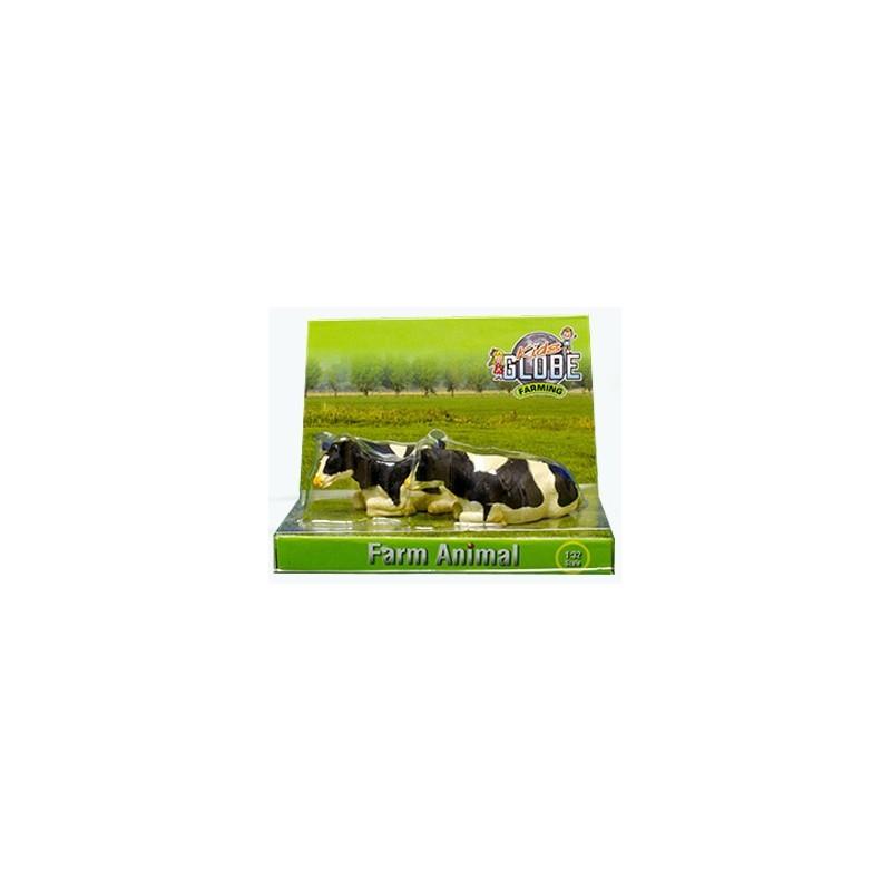 Kids Globe Kravy ležiace čierno-biele 1:32, 2 ks