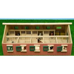 Stajňa pre kone s 9 boxmi Kids Globe 1:32