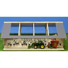 Kids Globe Otvorená maštaľ pre kravičky s mliečnym robotom 1:32