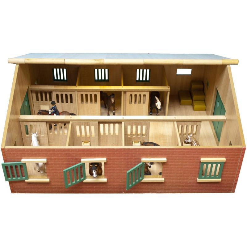 Stajňa pre kone so 7 boxmi Kids Globe 1:24
