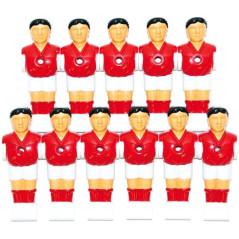 Sada hráčov pre stolný futbal 11 ks červeno-biela DEMA
