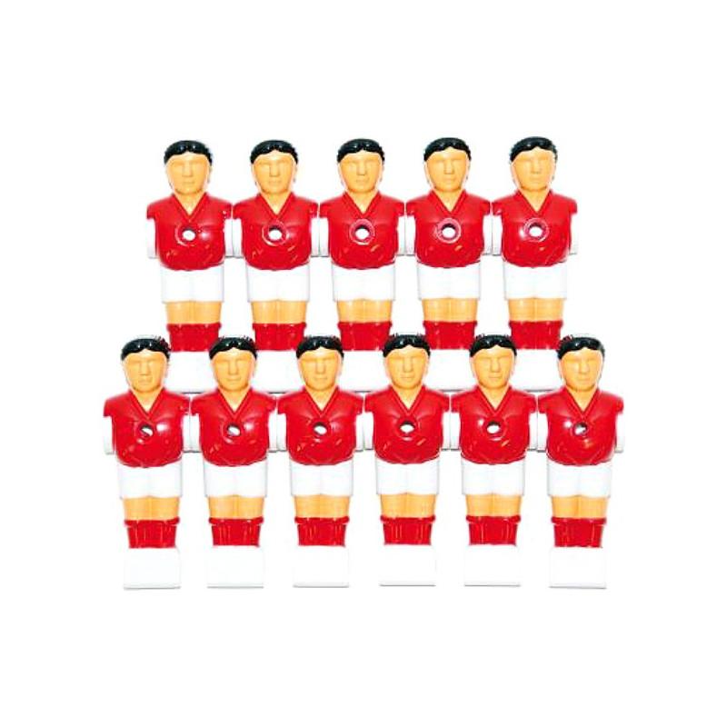 DEMA Figúrky / sada hráčov pre stolný futbal 11 ks, červeno-biela