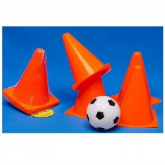 DEMA Futbalová loptička s kužeľmi
