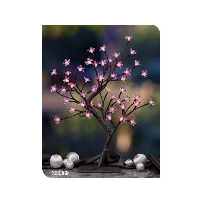 Hellum Strom s čerešňovými kvetmi LED 45 cm, ružový
