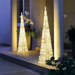 Hellum Vonkajšia svietiaca pyramída LED 90 cm