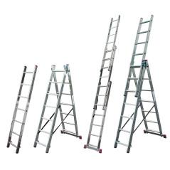 Krause Hliníkový rebrík výsuvný 3x8 Corda