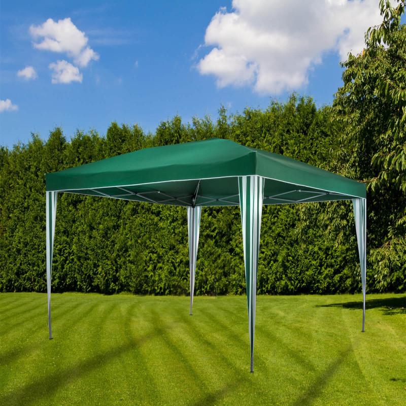 DEMA Záhradný altánok skladací 3x3 m, zelený