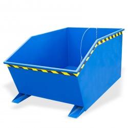 DEMA Vyklápací kontajner pre vysokozdvižný vozík 1000 litrov, modrý