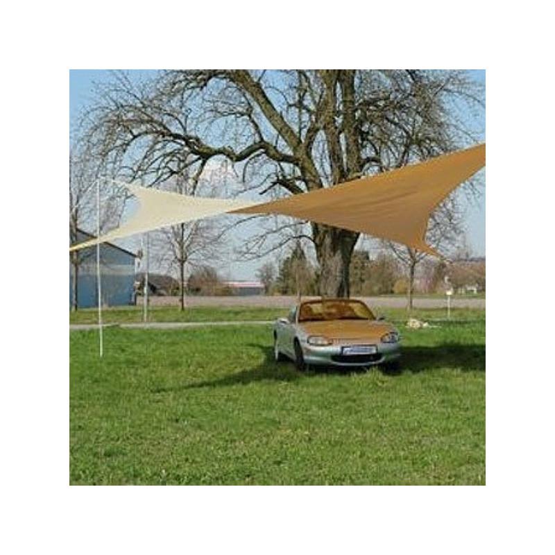 DEMA Štvorcípa tieniaca plachta proti slnku 5x5 m, béžová
