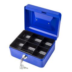 DEMA Kovová pokladnička 14x12x8 cm DGK 150, modrá